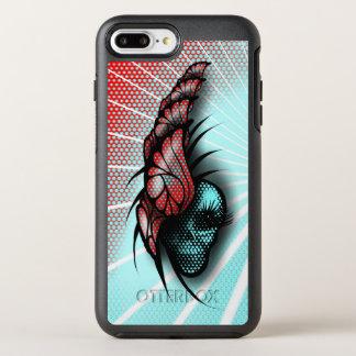 Cráneo y mariposas funda OtterBox symmetry para iPhone 7 plus