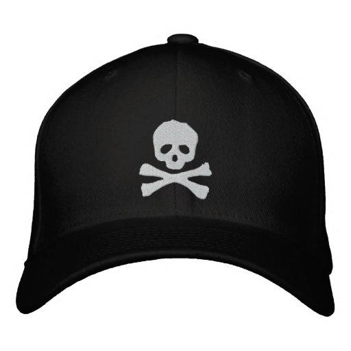 Cráneo y pirata cabidos de la bandera pirata gorras de beisbol bordadas