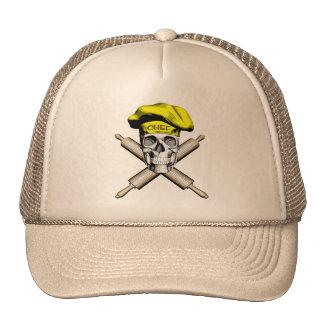 Cráneo y rodillos del panadero: Amarillo Gorra