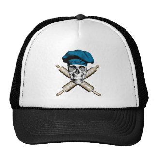 Cráneo y rodillos del panadero: Azul Gorro De Camionero