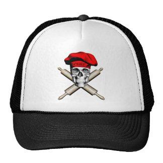 Cráneo y rodillos del panadero: Rojo Gorra