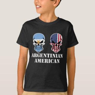 Cráneos argentinos de la bandera americana camiseta