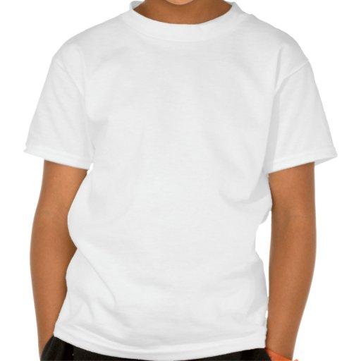 Cráneos coloridos del azúcar camisetas