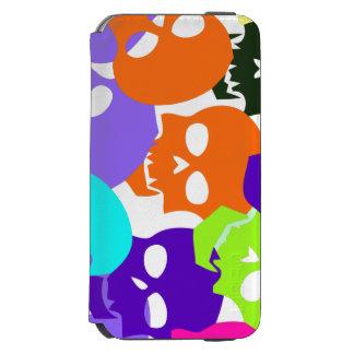 Cráneos coloridos funda cartera para iPhone 6 watson