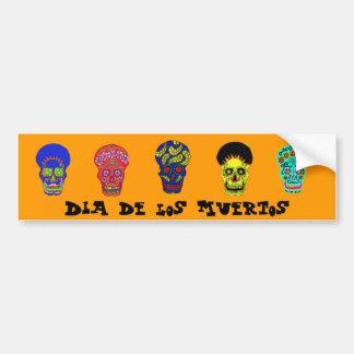 Cráneos de Dia de los Muertos Pegatina Para Coche