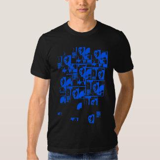 cráneos de la camiseta (azules)