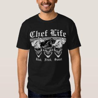 Cráneos de risa del cocinero camiseta