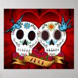 Cráneos del amor con el poster/la impresión de los póster