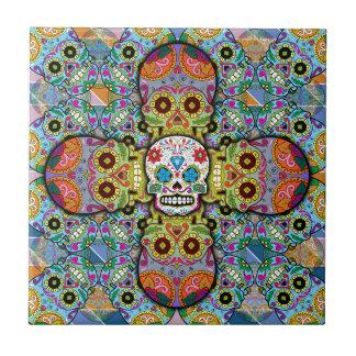 Cráneos del azúcar azulejo de cerámica