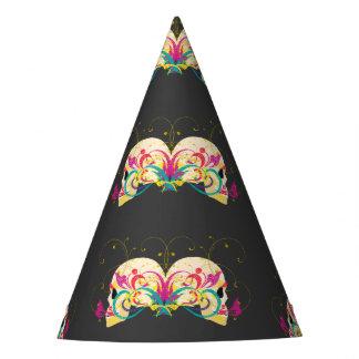 Cráneos del caramelo, florales, estilo de la gorro de fiesta
