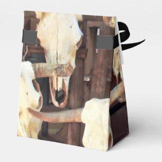 Cráneos espeluznantes caja para regalos
