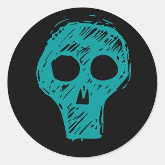 Cráneos Etiquetas Redondas
