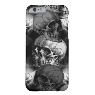 cráneos funda para iPhone 6 barely there