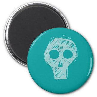 Cráneos Imán Redondo 5 Cm