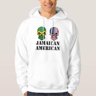 Cráneos jamaicanos de la bandera americana sudadera