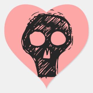 Cráneos Calcomanía Corazón
