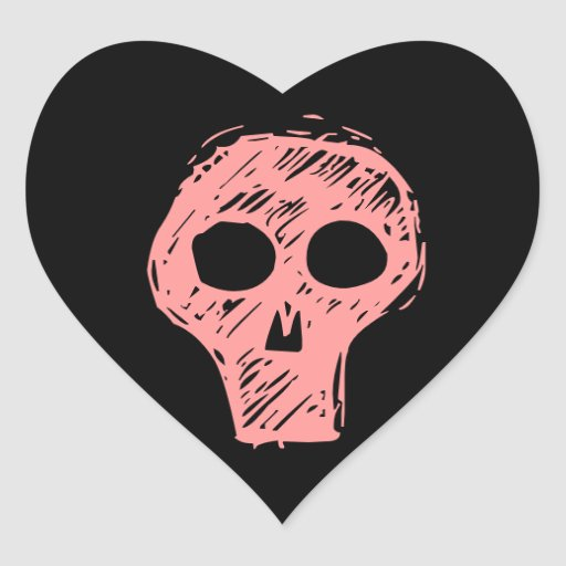 Cráneos Pegatina Corazón