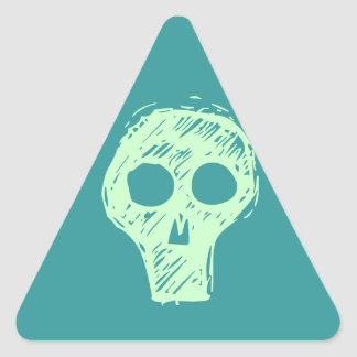 Cráneos Calcomanía De Triangulo Personalizadas