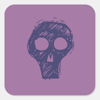 Cráneos Calcomanías Cuadradass