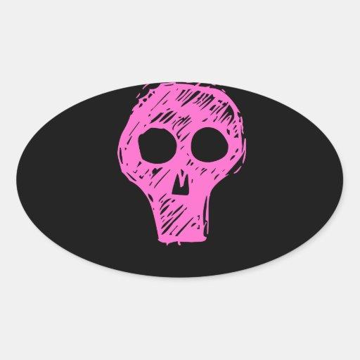 Cráneos Pegatinas Ovaladas