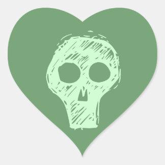 Cráneos Pegatina De Corazón Personalizadas