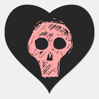 Cráneos Pegatina En Forma De Corazón