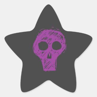 Cráneos Pegatina En Forma De Estrella