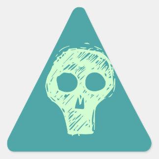 Cráneos Pegatina Triangular