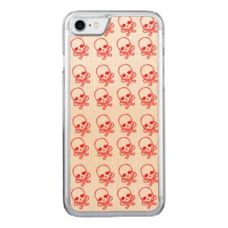 Cráneos rojos funda para iPhone 7