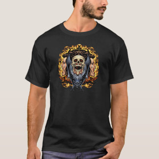 Cráneos, vampiros y palos adaptables por el Al Río Camiseta