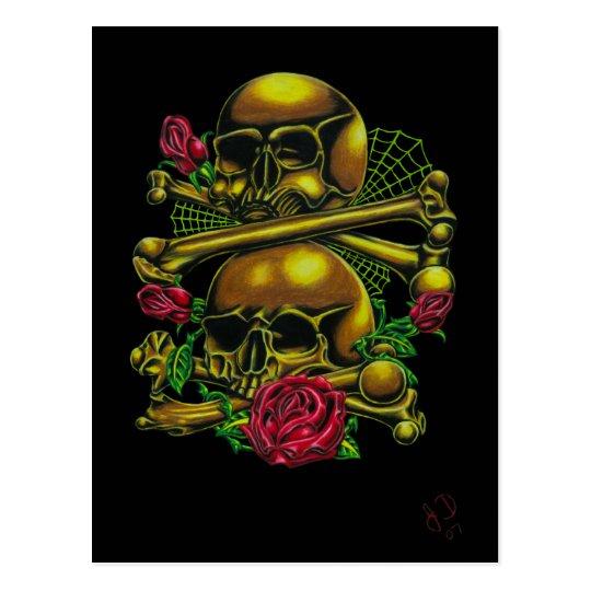 Cráneos, Web, y postal de los rosas