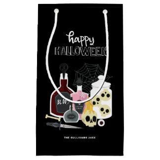 Cráneos y feliz Halloween de los ilustraciones de Bolsa De Regalo Pequeña