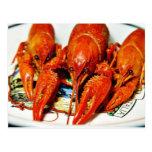 Crawdads Craytfish de los cangrejos Postales