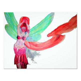 Crea a la hada del baile invitación 10,8 x 13,9 cm
