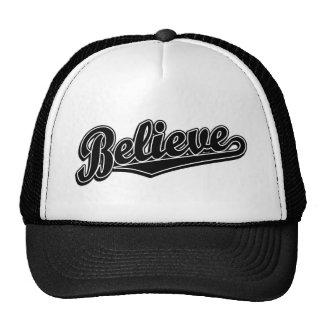 Crea el logotipo de la escritura en de lujo negro gorras