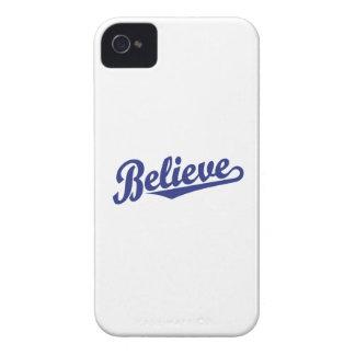 Crea en azul Case-Mate iPhone 4 coberturas