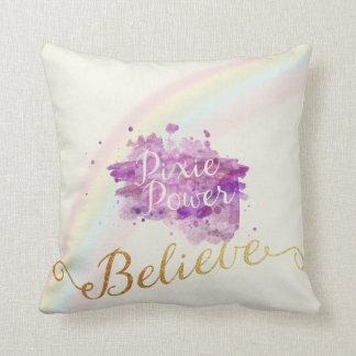 Crea en el poder de la almohada de los