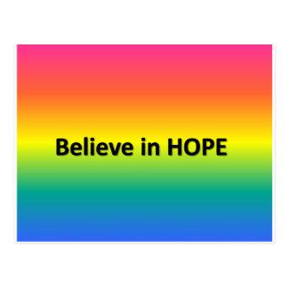 Crea en esperanza postal