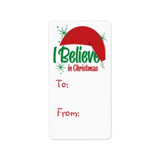 Crea en etiquetas de la etiqueta del regalo del etiquetas de dirección