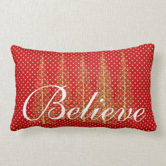 Crea en la almohada de tiro lumbar del navidad de cojín lumbar