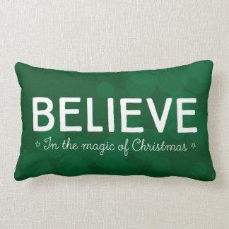 Crea en la magia del navidad • ponga verde el cojín lumbar