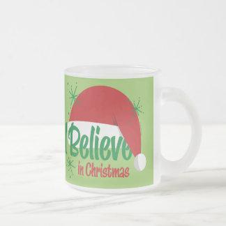 Crea en navidad taza de cristal