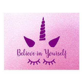 Crea en sí mismo la postal púrpura rosada del