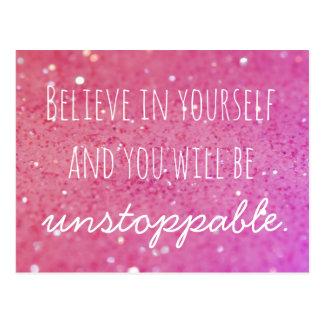 Crea en sí mismo la postal rosada imparable