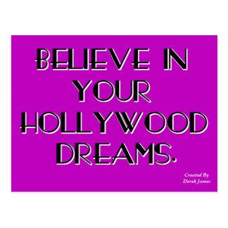 Crea en su postal de los sueños de Hollywood