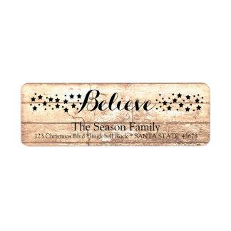 Crea la etiqueta de madera rústica del día de