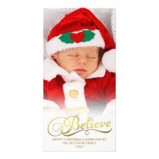 CREA la falsa tarjeta de la foto del navidad de la Tarjetas Fotograficas Personalizadas