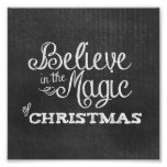 crea la magia de la pizarra del navidad poster