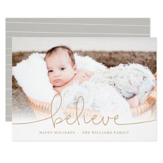 Crea la tarjeta de la foto del día de fiesta invitación 12,7 x 17,8 cm