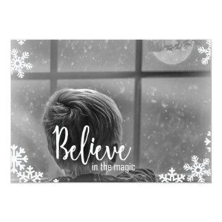 Crea la tarjeta de Navidad del copo de nieve